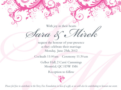 Wedding Invitation Summer 2012